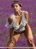 Молодая с пышным бюстом в поле цветов, фото 17