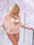 Розовое белье кудрявой блонды Anneli, фото 2