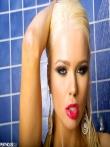 Шлюшка снимает белье под душем, фото 43