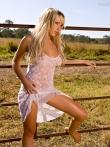 Кружевной пеньюар стройной блонды, фото 22
