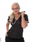Строгая и сексапильная секретарша в очках, фото 1