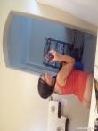 Брюнетка с косичками в ванной фоткает сладкие крупные титьки и жопу в зеркале, фото 19