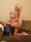 Домашка блондинки с большими дойками, фото 5