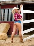 Роскошная масляная жопа девушки-ковбой, фото 2