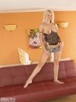 Улыбчивая с большими натуральными дойками блондинка Лена, фото 1