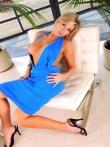 Зрелая дама в голубом платье и без трусов, фото 1