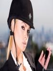 Соска в фетиш униформе и чулках расстегивает сюртук выпуская знойные титьки, фото 10