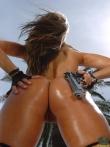 Блестящая задница в масле горячей латинки (16 фото), фото 13