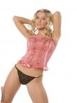 Стриптиз кудрявой блондинки в симпатичных черных трусах, фото 8
