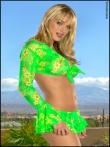 Зрелая блондинка Amber Evans показывает голые сиськи вместе с крепкой жопой, фото 1