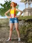 Фантастическая рыжая шлюшка снимает джинсы с аппетитной попки, фото 3