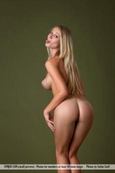 Молоденькая голая девушка Эрика с круглой попкой