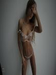 Девушка с красивой спортивной фигурой в просвечивающим нижнем белье, фото 11