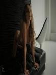 Девушка с красивой спортивной фигурой в просвечивающим нижнем белье, фото 8