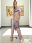Sydney Cole с мелкой грудью раздвигает ноги в просвечивающих трусах, фото 7