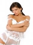 Шлюшка с косичками в кружевном нижнем белье, фото 5