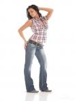 Горячая латинка с аккуратными сиськами и аппетитной задницей в джинсах, фото 2