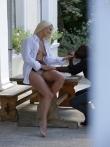 Негр ебет красивую блондинку. Обкончал спермой ее половые губы, фото 2
