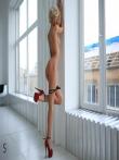 Гламурная Дженни с худенькой фигуркой и высокими каблуками на длинных ножках, фото 18