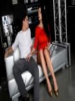 Отсос с высокой компрессией и жаркий анал с грудастой порнозвездой в красном платье Аллетой Оушен, фото 1