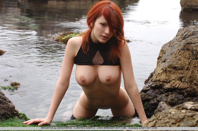 Фото голых рыжих телок