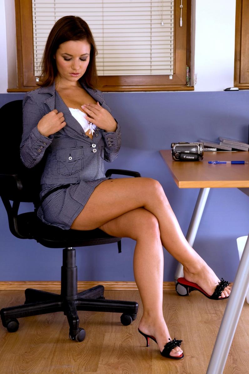 Сексуальная секретаршу в попу
