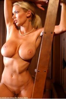Jenna Jamesson блондинка с большими грудями и косичкой в библиотеке